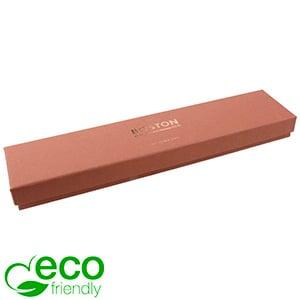 Boston ECO aflang smykkeæske til armbånd Terracotta FSC®-certificeret karton/ Sort skum 225 x 50 x 22
