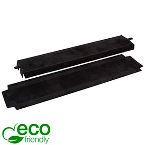 ECO Insert for bracelet Black cardboard with black velour topcoat 218 x 45 x 10