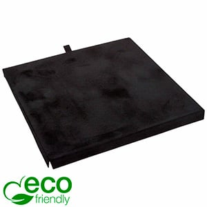 ECO Insert for large necklace / jewellery set Black cardboard with black velour topcoat 161 x 161 x 10
