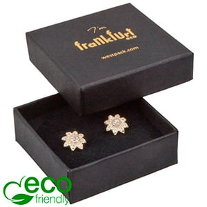 Frankfurt ECO Jewellery Box Ring/ Stud Earrings Matt Black FSC®-certified Cardboard / Black Foam 50 x 50 x 17