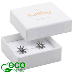 Frankfurt ECO Jewellery Box Ring/ Stud Earrings Grainy White FSC®-certified / White-Black Foam 50 x 50 x 17