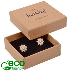 Frankfurt ECO Jewellery Box Ring/ Stud Earrings Matt Brown FSC®-certified Cardboard / Black Foam 50 x 50 x 17