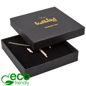 Frankfurt ECO Jewellery Box for Pendant / Bangle Matt Black FSC®-certified Cardboard / Black Foam 86 x 86 x 17