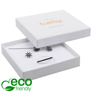 Frankfurt ECO Jewellery Box for Pendant / Bangle Grainy White FSC®-certified / White-Black Foam 86 x 86 x 17