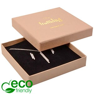 Frankfurt ECO Jewellery Box for Pendant / Bangle Matt Brown FSC®-certified Cardboard / Black Foam 86 x 86 x 17