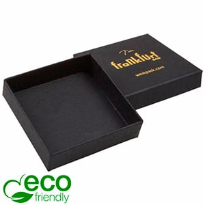 Frankfurt ECO Jewellery Box Drop Earrings/ Pendant Matt Black FSC®-certified Cardboard/Without Insert 65 x 65 x 17