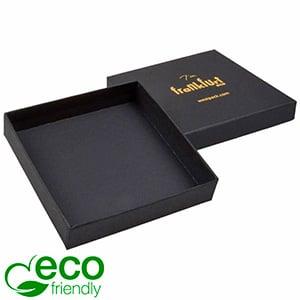Frankfurt ECO smykkeæske til armring / vedhæng Mat sort karton / Uden indsats 86 x 86 x 17