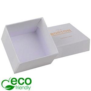 Boston ECO sieradendoosje voor ring Natuur Wit Karton / Zonder foam 50 x 50 x 32