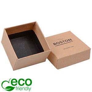 Boston ECO smykkeæske til ring Naturfarvet FSC®-certificeret karton/ Uden indsats 50 x 50 x 32