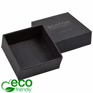 Boston ECO smykkeæske til øreringe / ørestikker Mat sort FSC®-certificeret karton/ Uden indsats 50 x 50 x 22