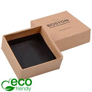 Boston ECO Jewellery Box for Earrings / Studs Matt Brown FSC®-certified Cardboard/Without Insert 50 x 50 x 22