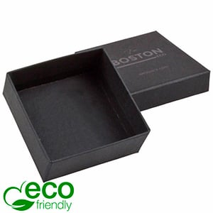Boston ECO Jewellery Box Drop Earrings / Pendant Matt Black FSC®-certified Cardboard/Without Insert 65 x 65 x 25