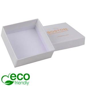 Boston ECO sieradendoosje voor oorbellen / hanger Natuur Wit Karton / Zonder foam 65 x 65 x 25