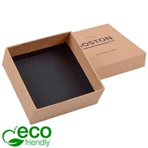 Boston ECO smykkeæske til øreringe / vedhæng Naturfarvet FSC®-certificeret karton/ Uden indsats 65 x 65 x 25