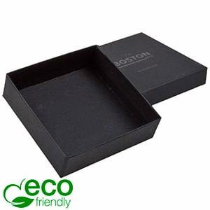 Boston ECO smykkeæske til halskæde / armbånd Mat sort FSC®-certificeret karton/ Uden indsats 86 x 86 x 26