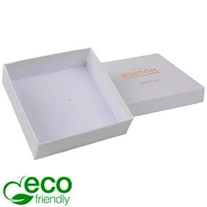 Boston ECO sieradendoosje armring / hanger Natuur Wit FSC®-gecertificeerd / Zonder foam 86 x 86 x 26