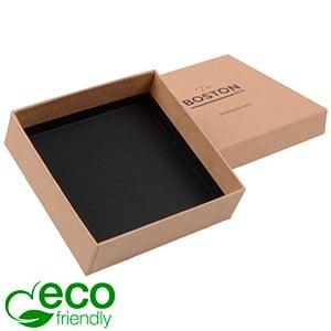 Boston ECO smykkeæske til halskæde / armbånd Naturfarvet FSC®-certificeret karton/ Uden indsats 86 x 86 x 26