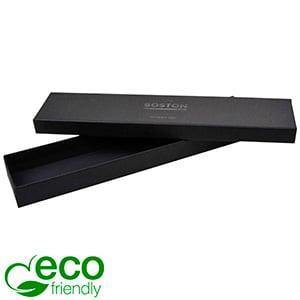 Boston Eco Jewellery Box for Bracelet Matt Black FSC®-certified Cardboard/Without Insert 225 x 50 x 22