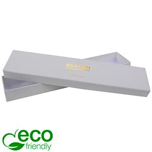 Boston Eco sieradendoosje voor armband Natuur Wit Karton / Zonder foam 225 x 50 x 22