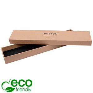 Boston Eco opakowania na bransoletki Matowy brązowy karton/ bez gąbki 225 x 50 x 22