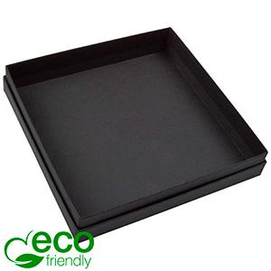 Boston ECO opakowanie na naszyjniki/komplety Matowy czarny karton/ bez gąbki 167 x 167 x 32