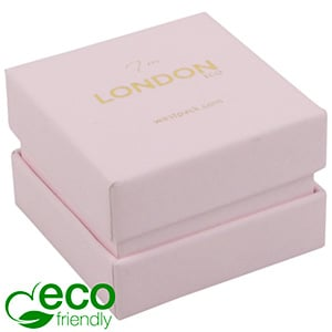 London ECO Jewellery Box for Ring Rose Soft-Touch Cardboard/ Rose Foam 50 x 50 x 35