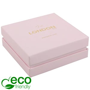 London ECO Jewellery Box for Bangle /Large Pendant Rose Soft-Touch Cardboard/ Rose Foam 86 x 86 x 30