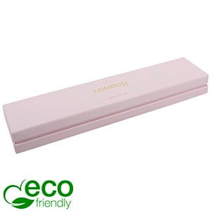 London ECO Jewellery Box for Bracelet Rose Soft-Touch Cardboard/ Rose Foam 220 x 50 x 25