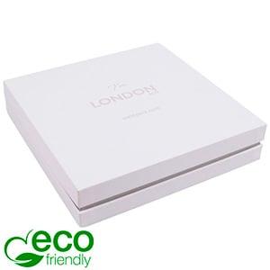 London ECO sieradendoosje voor choker / collier Wit soft-touch karton/ Grijze kraag/ Wit foam 167 x 167 x 35