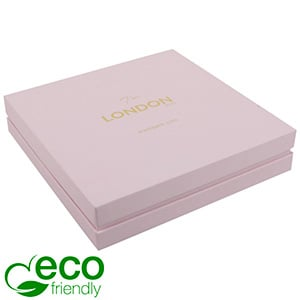 London ECO Jewellery Box for Necklace Rose Soft-Touch Cardboard/ Rose Foam 167 x 167 x 35