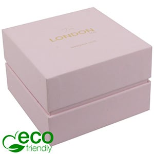 London ECO Jewellery Box for Watch / Bangle Rose Soft-Touch Cardboard/ Rose Foam 90 x 90 x 60