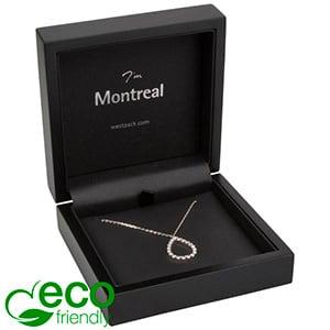 Montreal ECO sieradendoosje voor armring/ hanger Mat zwart hout/ Zwart Nabuca interieur 100 x 100 x 41