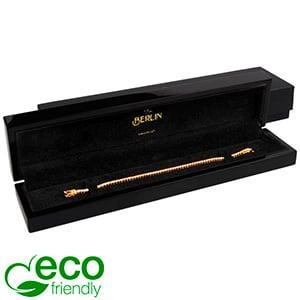Berlin ECO sieradendoosje voor armband Glanzend zwart hout/ Zwart velours interieur 250 x 57 x 32