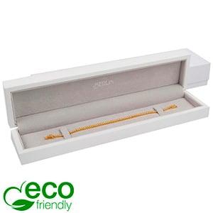 Berlin ECO sieradendoosje voor armband Glanzend wit hout/ LichtGrijs velours interieur 250 x 57 x 32