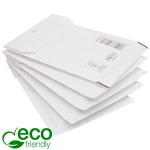 100x Miljøvenlig Boblekuvert ECO, medium Hvid konvolut foret med bobleplast  273 x 200 x 4