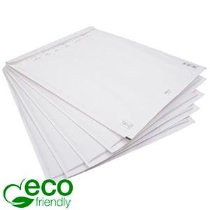 200x Miljøvenlig Boblekuvert ECO, lille Hvid konvolut foret med bobleplast  178 x 120 x 4