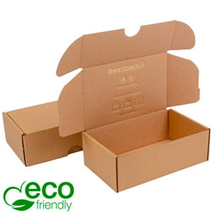 ECO Postal Box, 185x109x62mm Plain Brown Cardboard 185 x 109 x 62