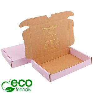 ECO Postal Box, 177x118x29mm Rose-coloured / Plain Brown Cardboard 177 x 118 x 29