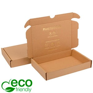 ECO Postal Box, 177x118x29mm Plain Brown Cardboard 177 x 118 x 29