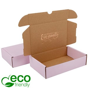 ECO Postal Box, 183x116x44mm Rose-coloured / Plain Brown Cardboard 183 x 116 x 44