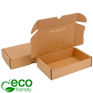 ECO Postal Box, 183x116x44mm Plain Brown Cardboard 183 x 116 x 44