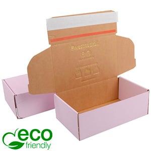 ECO Postdoosje, 188x111x64 mm Roze karton met tapesluiting 188 x 111 x 64