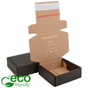 ECO Postal Box Large Letter, 120x120x45 mm Black/brown Cardboard w/adhesive strips 120 x 120 x 45