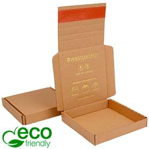 Boîte pliante d'envoi postal ECO, 120x120x22 mm