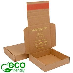 ECO Postdoosje Briefpost, 120x120x29 mm Naturel karton met tapesluiting 120 x 120 x 29