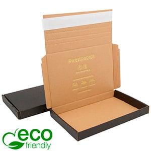 ECO Postdoosje Briefpost, 195x130x22 mm Zwart karton met tapesluiting 195 x 130 x 22