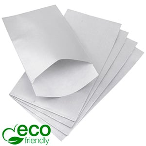 500 Paper Jewellery Bags, Small Silver Shadow Stripe Paper 90 x 150 80 gsm