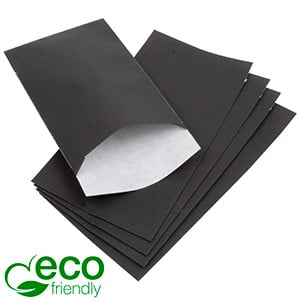 500 Paper Jewellery Bags, Small Black Shadow Stripe Paper 90 x 150 80 gsm