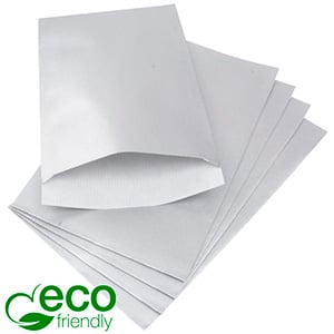 500 Paper Jewellery Bags, Large Silver Shadow Stripe Paper 120 x 180 80 gsm