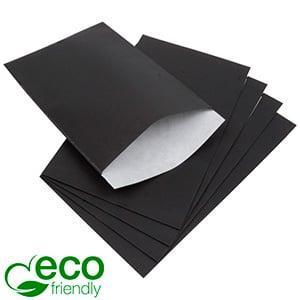 500 ECO papieren sieradenzakjes, groot Mat zwart kraftpapier, met nerf 120 x 180 80 gsm